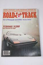 Road & Track March 1978, Ferrari 512/Toyota Cressida/Volvo 242GT/Maserati Merak