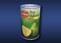 1:12 Scale Pear Halves Tin Dolls House Miniature Food Cans