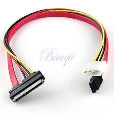 7+15 22 Pin Power/Data Sata to 4-Pin IDE Molex & Sata Port Connector Cable 40cm