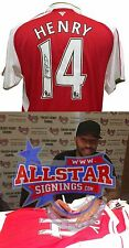 THIERRY HENRY SIGNED ARSENAL FOOTBALL SHIRT WITH PROOF & COA ALLSTARS EXCLUSIVE