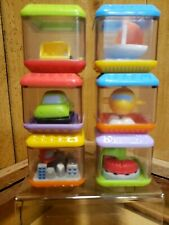 Fisher Price Peek a Blocks Learning Fun 6 Piece Block Set Vehicle Fun 2003