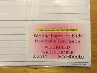 Writing Paper for Kids - Wide Ruled Writing Paper - 11X 8.5, 20 lb, 100 sheets