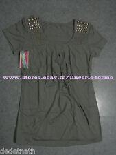 T-shirt sweat tunique Top débardeur pull blouse à clou