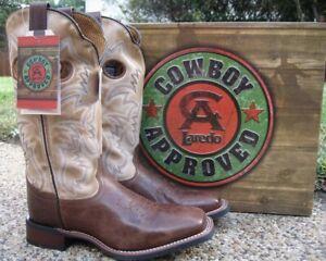 NEW Mens Laredo Taylor Tan & Bone Leather Western Cowboy Boots Style 7914