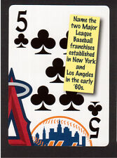 Los Angeles Angels New York Mets Baseball Neat Playing Card #0Y6S
