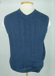 NWT Rountree and Yorke Men's Blue 90% Cotton 10% Wool Pullover Vest XL ($49.50)