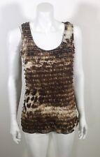 Chico's Size 0 - sz S Brown Animal Print Tiered Layered Tank Top WORN ONCE