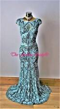 """Bnwt Phase Eight """"Collection 8""""Paige Blue Tapework Brocade Maxi Evening Dress 14"""
