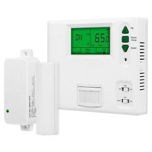 Enerlites Programmable Digital Thermostat with PIR sensor and Door Sensor