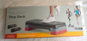 """NIB PRO-FORM Adjustable Step Deck Adjusts 4""""- 6"""" Safe Non-Slip Surface"""