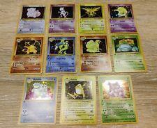 Pokémon 1st Edition 11 Holo PR0XY Cards Lot Charizard/Dracaufeu/Glurak & others