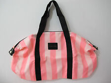 NWT Victoria's Secret Signature Stripe Nylon Packable Weekender Tote FRE SHP