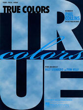 """PHIL COLLINS """"TRUE COLORS"""" PIANO/VOCAL/GUITAR SHEET MUSIC-BRAND NEW ON SALE!!"""
