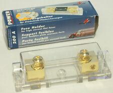 Monacor Sicherungshalter vergoldet CPF-510GH 200A mit Rechnung vom Fachhändler