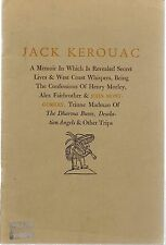 Jack Kerouac A Memoir In Which Is Revealed Secret Lives...John Montgomery