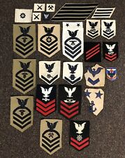 Assorted US Navy Patch Lot WW2-Vietnam Strikers, Rating Patches, Etc. 25 Pieces