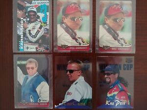 1995-96 DALE EARNHARDT & MORE MIXED LOT OF 6 (W/4 INSERTS) CLASSIC RACING CARDS!