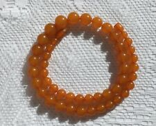 Vintage Baltic Amber Necklace Honey Sunny Pressed Amber 36,4 grams Round Beads