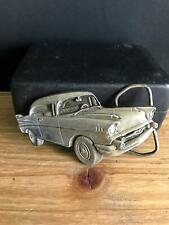 Vintage 1979 BERGAMOT PEWTER FIGURAL 1957 Chevy Bel Air Belt Buckle