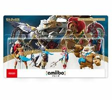NEW amiibo Zelda Breath of Wild Champions Limited Pack Set REVALI MIPHA JAPAN FS