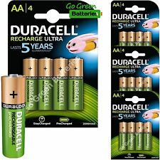 16 x Duracell AA 2500 mAh Rechargeable ULTRA Batteries, NiMH HR6 MN1500 Duralock