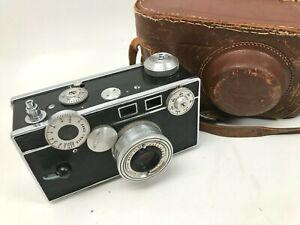 Vintage Argus C3 35mm 50mm Coated Cintar Camera w/ Case