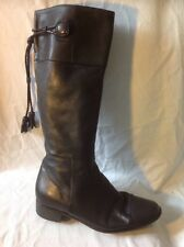 Russell&Bromley Black Knee High Leather Boots Size 38