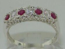 White Gold Round Ruby Fine Rings
