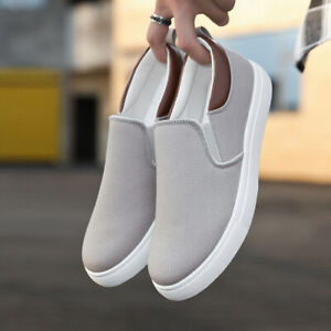 Men Slip-On Low Top Flats AntiSlip Sneaker Korean Fashion Casual Plus Size Shoes