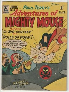 """Australian Comic: Adventures of Mighty Mouse #23 Rosnock 1956 """"Terry Toons"""""""