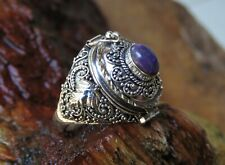 Sugilite Poison/Locket Ring Lr-813 Limited Stock 925 Silver