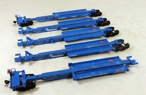 Walthers #932-3935 263' 5-Unit Spine Car Set Conrail #730003 1/87 HO Scale