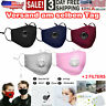 Face Mask Reusable Washable Anti Pollution PM2.5 Double Air vents With Filter US