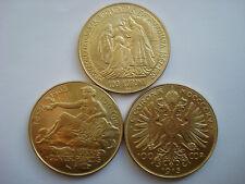3x Österreich 100 Kronen 1907 1908 1915 Kaiser Franz Joseph I Ungarn Korona