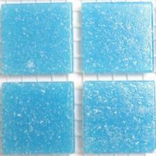 Vitreous Glass Mosaic Tiles 20mm - Cyan