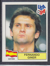 PANINI-USA 94 WORLD CUP - # 185 Fernando GINER-SPAGNA (Green Retro)