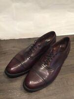 Allen Edmonds Mens Stratton Burgundy Cap Toe Oxfords Dress Shoes 10 B