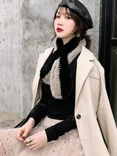 Real Mink Fur Knitted Scarf Fur Wraps Winter warm fashion Fur Scarves