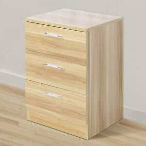 Wooden Forcer Nightstand Bedside Cabinet Cupboard Storage Table Drawer Chest