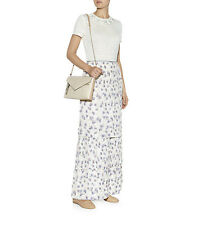 New Authentic Tory Burch Women's Avril Ivory Floral Long Maxi Skirt (Size 2, 4)