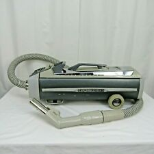 Electrolux Silverado Deluxe Canister Vacuum w Hose Silver Gray Tested Works Vtg
