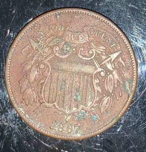 #267 UNITED STATES - Two Cent Coin - 1867