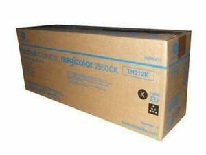 Genuine Konica Minolta TN212K A00W472 Black Toner Type EU