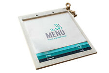 "Wooden Menu, Ashwood Menu, Restaurant Menu Holder, Menu Cover 8.5x11"""