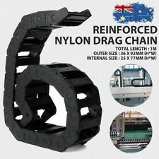"""4x Cable Drag Chain Wire Carrier f// CNC Machine 1000mm//40/"""" Long Nylon PA66 Black"""