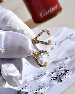 Hinges C Decor Rimless CARTIER spare parts sunglasses Diamonds 5 Ct. ricambi