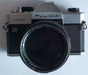Fujica ST 801 mit Optik Fujinon 1:2,5/135 analoge Spiegelreflexkamera