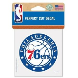 "Philadelphia 76ers 4"" x 4"" Logo Truck Car Auto Window Die Cut Decal Color New"
