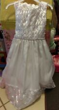 Preowned  girls white girls dress cinderella 5 wedding party