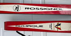 Vintage Rossignol Olympique skis 185cm Marker Rotamat I bindings Decor Display